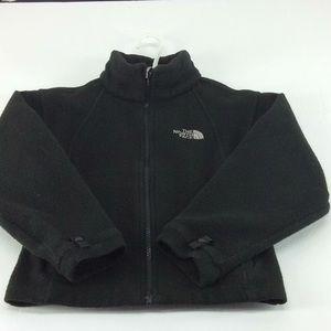 North face kids XS black fuzzy jacket